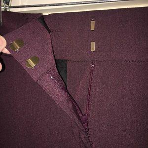 LOFT Pants - LOFT Marisa fit cranberry trousers